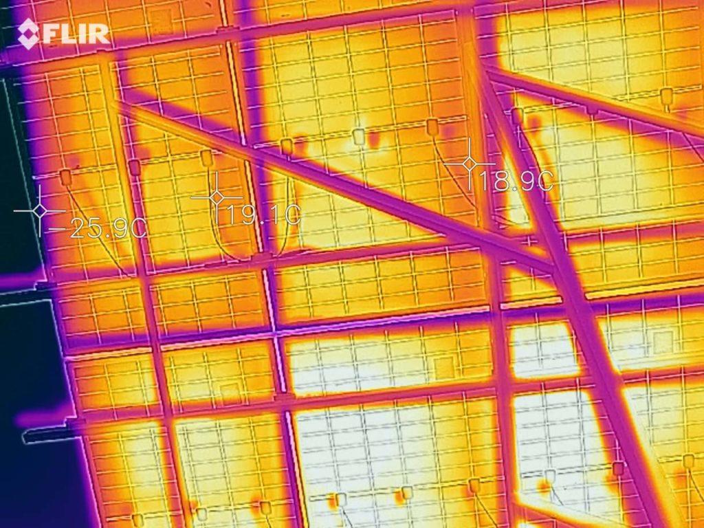 тепловизионное обследование солнечных панелей