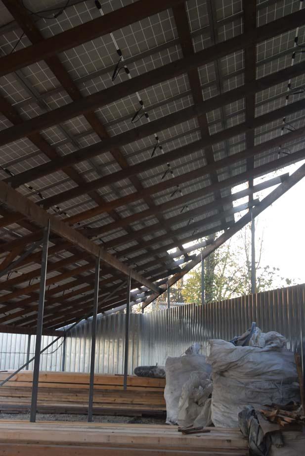 Дерев'яна конструкція для сонячних панелей