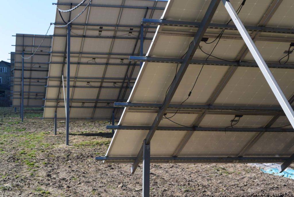 Наземная конструкция под солнечную станцию