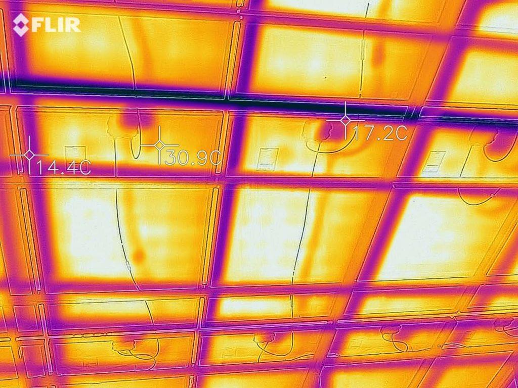 Панели на тепловизоре