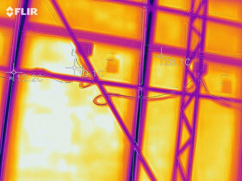 Тепловізійне обстеження  сонячної електростінції